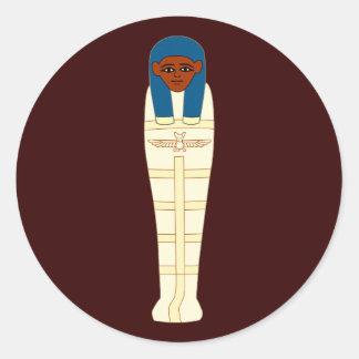 Egyptian mummy egypt mummy classic round sticker