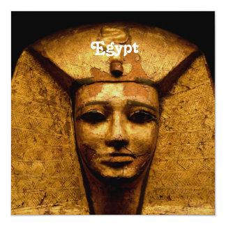 "Egyptian Mummy 5.25"" Square Invitation Card"