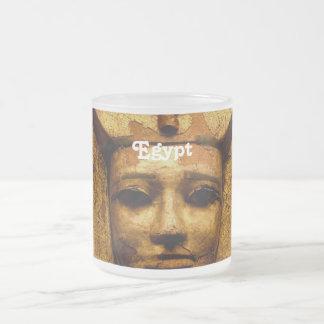 Egyptian Mummy Frosted Glass Mug