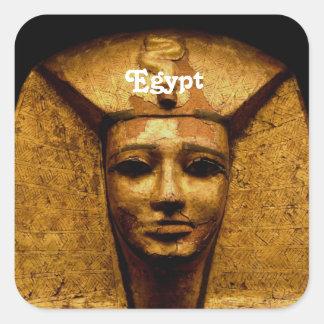 Egyptian Mummy Square Sticker