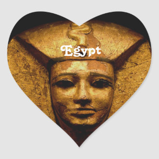 Egyptian Mummy Heart Sticker