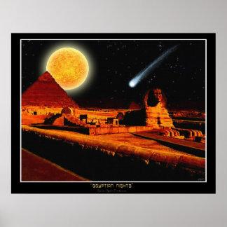 """EGYPTIAN NIGHTS"" Sphinx Fantasy Art Poster"