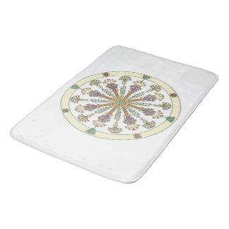 Egyptian Nouveau Lotus Mandala Bath Mat
