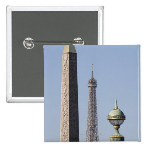 Egyptian Obelisk and lamp in Place de la Pins