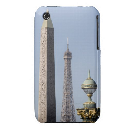 Egyptian Obelisk and lamp in Place de la iPhone 3 Case-Mate Cases