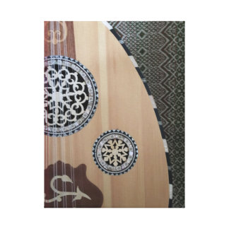 Egyptian Oud Middle Eastern Stretched Canvas Print