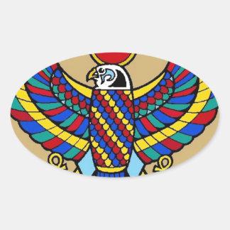 Egyptian Oval Sticker