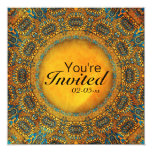 Egyptian Owls 13 Cm X 13 Cm Square Invitation Card
