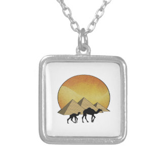 Egyptian Passing Silver Plated Necklace