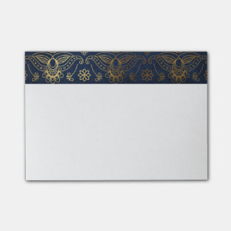 Egyptian Peacock Gold & Midnight Blue Post-it Notes