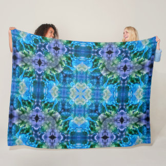 Egyptian Pegasus Silk Mandala Fleece Blanket