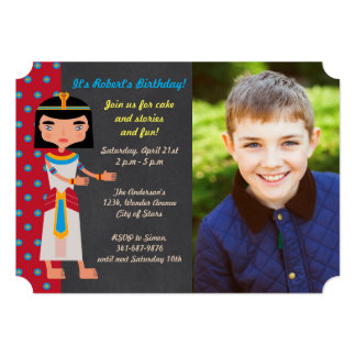 Egyptian pharaoh  birthday Party photo invitation