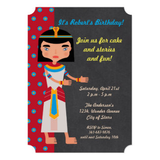 Egyptian pharaoh dance birthday Party invitation