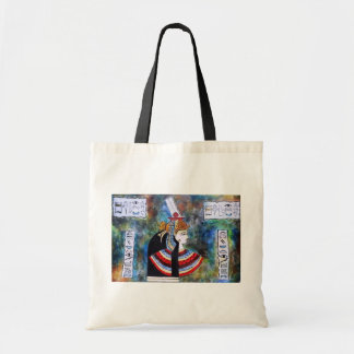 Egyptian Pharoh - King Tut with hieroglyphs Tote Bag