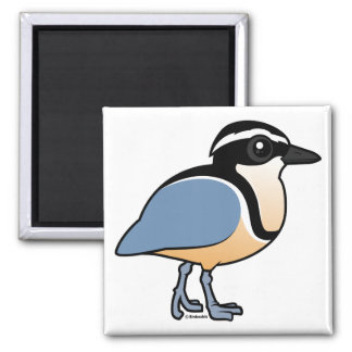 Egyptian Plover Square Magnet