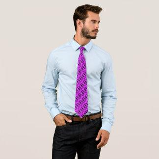 Egyptian Purple Sunset Satin Houndstooth Tie