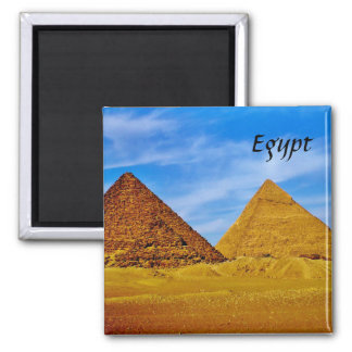 Egyptian Pyramids at Giza Square Magnet