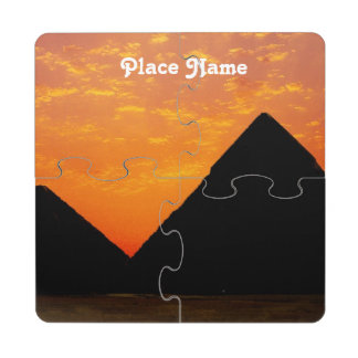 Egyptian Pyramids Puzzle Coaster