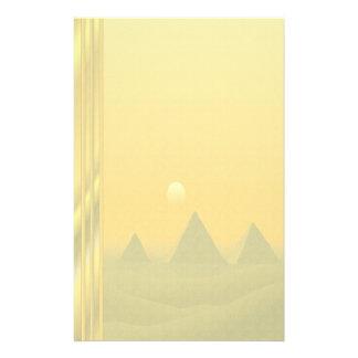Egyptian Pyramids & Sunrise - No Lines Customized Stationery