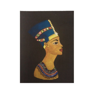 Egyptian Queen Wood Poster