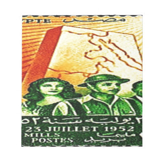 Egyptian Revolution Stamp Notepad