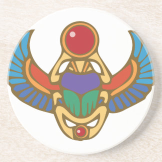 Egyptian Scarab Beverage Coasters
