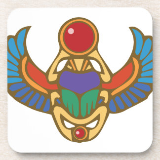 Egyptian Scarab Drink Coasters