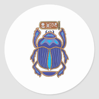 Egyptian Scarab Dung Dung Beetle Round Sticker