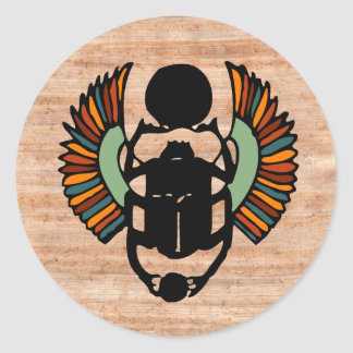 Egyptian Scarab Seal Round Sticker