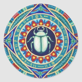 Egyptian scarab stickers by Soozie Wray.