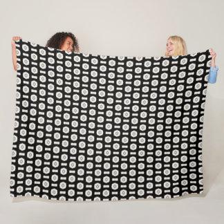 Egyptian Stone Eye Silk Pattern Fleece Blanket