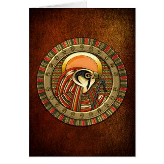 Egyptian Sun God Ra Greeting Card