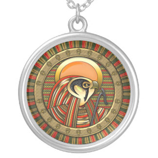 Egyptian Sun God Ra Round Pendant Necklace