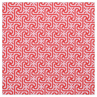Egyptian tile pattern, deep and light pink fabric