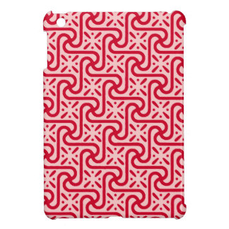 Egyptian tile pattern, deep and light pink iPad mini covers