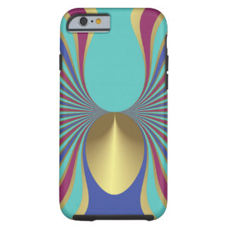 Egyptian Turquoise Iris Sword Lily Art Nouveau Tough iPhone 6 Case