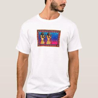 Egyptian Twins by Karen Bates Studio T-Shirt