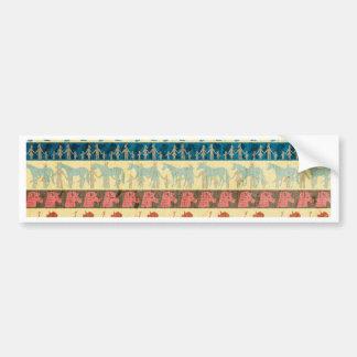 Egyptian Unicorn Pattern Bumper Sticker
