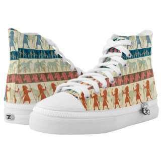 Egyptian Unicorn Pattern High Tops