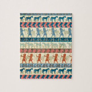 Egyptian Unicorn Pattern Jigsaw Puzzle