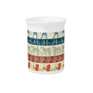 Egyptian Unicorn Pattern Pitcher