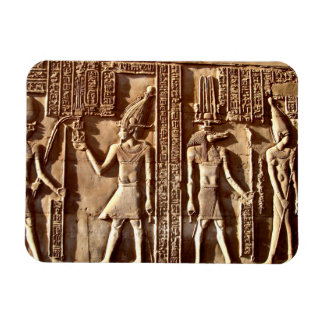 Egyptian Wall Carving Rectangular Photo Magnet