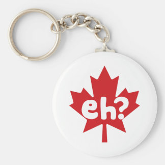 Eh Canadian Pride Basic Round Button Key Ring