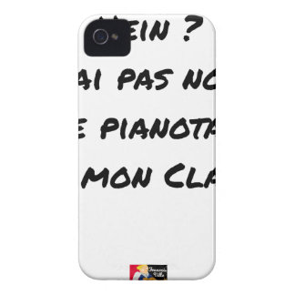 EH? I NOT NOTED AI, I TINKLED AWAY AT THE PIANO ON iPhone 4 Case-Mate CASE