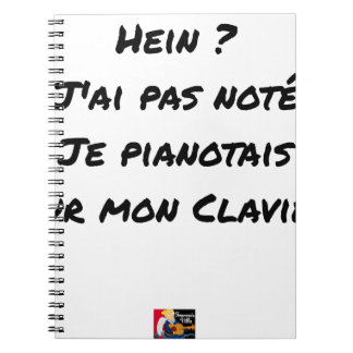 EH? I NOT NOTED AI, I TINKLED AWAY AT THE PIANO ON NOTEBOOKS