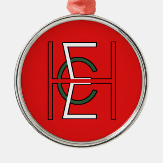 EHC Logo Upright Red Metal Ornament
