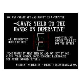 EHC Mariomatt Hacker Ethic Mousepad It Matters Postcard