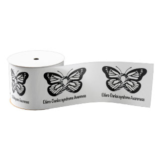 "Ehlers-Danlos Syndrome Butterfly of Hope 3"" Grosgrain Ribbon"