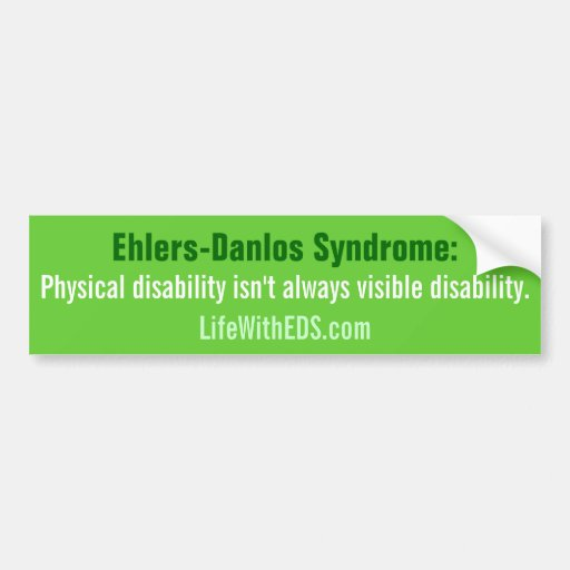 Ehlers-Danlos Syndrome (EDS) Bumper Sticker