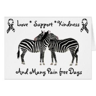 Ehlers-Danlos syndrome EDS Zebra Support Card